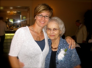 Grandma and me:  June 12, 1009